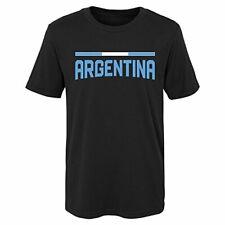 "World Cup Soccer Argentina Kids & Youth ""Color Bar"" Tee, Black, Kids Medium(5-6)"