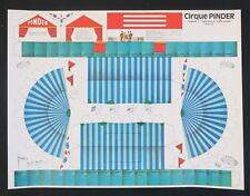 Affiche découpage CIRQUE PINDER 1 chapiteau tente circus poster Zirkus circo