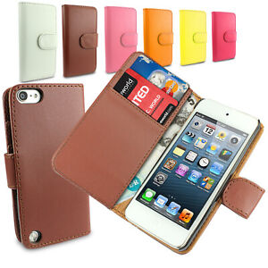 Apple iPod Touch 5th 6th 7th Generation Flip Wallet Leather Book Case Cover