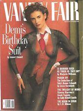 VANITY FAIR~AUGUST 1992~DEMI MOORE BIRTHDAY SUIT~ COMPLETE MAGAZINE
