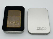 Zippo lighter Chesterfield Cigarettes ANTIQUE BRASS 1995 NOS