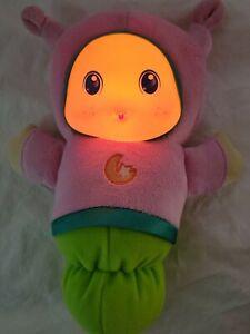 Playskool Hasbro GLOW Worm Lullaby Baby Globaby Light Up Plush Toy 2011