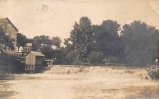 Ida Grove IA King's Mill and Spillover~This Is a Pretty Town RPPC 1908 Postcard