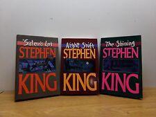 STEPHEN KING  RARE COVER ART - SET of 3 - Salem's Lot; The Shining; Night Shift
