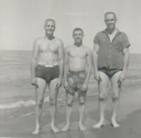Vintage photograph, good looking young men, shirtless, gay interest