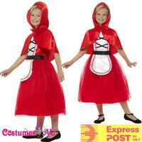 Girls Deluxe Little Red Riding Hood Costume Child Kids Day Book Week Fancy Dress