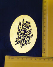 Brass/stencil/Oval/floral/flowers/Daffodil/Spring/Summer/Emboss