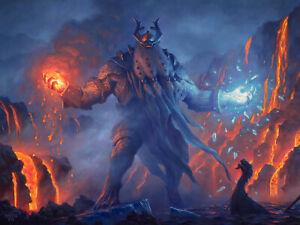 Aegar, the Freezing Flame - Original oil painting for MtG's new Kaldheim set.