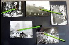 CES 10 PHOTOS PAQUEBOT NORMANDIE QUI BRULA DANS LE PORT DE NY REPRODUCTIONS