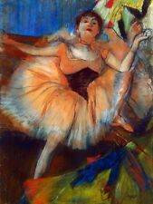 Edgar Degas canvas print Seated dancer giclee 8X12&12X17