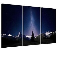 Large Starry Night Unframed HD Abstract Canvas Print Wall Art Picture #2