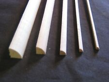 Shoe Molding dollhouse trim 1/12 scale 3pc basswood