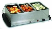 Elite Gourmet EWM-109 Maxi-Matic  3  1.5 Qt.Tray Buffet Server Stainless Steel