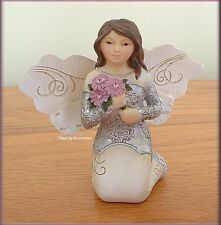 """OCTOBER MONTHLY ANGEL FIGURINE 3"""" HIGH BY PAVILION ELEMENTS FREE U.S. SHIPPING"""