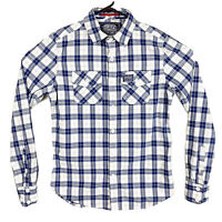 SuperDry Men's Sz Medium Check Plaid Button Down Long Sleeve Casual Shirt