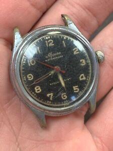 ALPROSA Vintage Watch WWII Era Military Estate Fresh Working!! NR