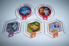 Lot of 5 DISNEY INFINITY Power Disc Set Chrome Felix Victor Mike's Car Carl Cane