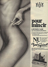 PUBLICITE ADVERTISING    1989   RENE GUINOT  lipomucase NU cosmétiques