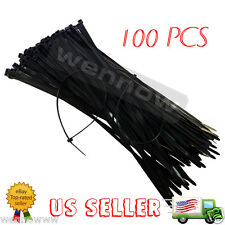 Cable Tie 8 inch 40Lbs, 100pcs - Black