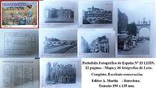Año 1930. PORTFOLIO FOTOGRAFICO Nº 33  LEON. Editor A. MARTIN. Con 22 páginas.