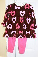 Flapdoodles Valentines Hearts Swing Top & leggings 24 M