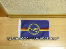 Fahnen Flagge DDR Lufthansa Tischwimpel - 15 x 25 cm