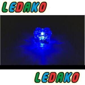 LED Leuchtstein 2x2 rund transparent blau dauernd  leuchtend light by ledako
