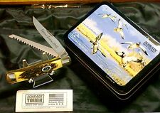 Schrade 97OT Buzzsaw Knife Ducks Unlimited Trapper 1998 USA NOS W/Decorative Tin