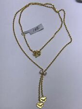 23k Solid Yellow Gold Cute Heart Cz Necklace. Weight 3.83 Grams. Retail $650