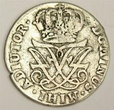 1720 Norway 12 Skilling silver coin KM217 VF