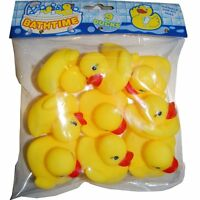 18 X MINI YELLOW BATHTIME WATER RUBBER DUCKS TOY WATER PLAY GOODY BAG FILLER
