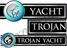 Trojan Boat Custom Stickers - 16 inch Long