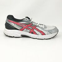Asics Mens Gel Contend 2 T426N White Black Silver Running Shoes Lace Up Size 13