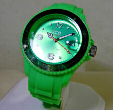 Cool LN Women's Neon Green Ice Date Watch. Lower Price! 1 Year Warranty!