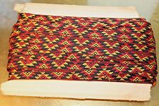 """ANTIQUE 100 YARDS OF AZTEC RIBBON RED/BLACK/YELLOW  5/8"""" WIDE"""