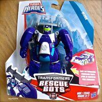 Transformers RESCUE BOTS BLURR Race Car PLAYSKOOL HEROES Hasbro Purple NEW