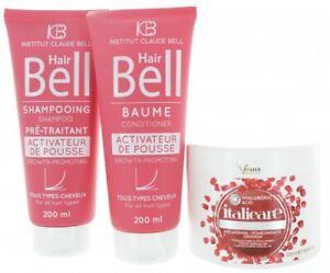 Hyaluron Haargel 500ml + HairBell Shampoo + Conditioner 2x200ml Haarwachstum