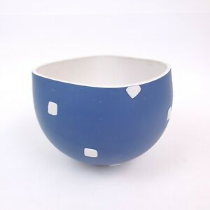 "Vintage PAOLA LENTI Hand Made Ceramic Decorative Bowl Blue & White 6.5"" ITALY"