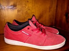 SUPRA Stacks Red / White Terry Kennedy Society Skateboarding Shoes Men Sz 11 👟5