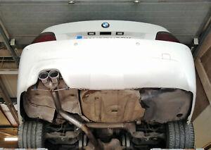"BMW 530D ( E60 / E61 ) Rear silencer delete pipe - Twin 3"" tail pipe B"