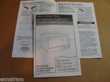 Hamilton Beach Proctor Silex Owner's Manual Pizza & Toaster Oven 31120