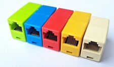5X Colours RJ45 joiners/cable extenders for Cat5, Cat5e. Cat6 cables