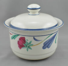 Lenox Poppies On Blue Sugar Bowl With Lid