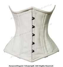 Heavy Duty 26 Double Steel Bone Waist Training Cotton Underbust Shaper Corset