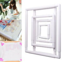 Handmade Square Shape Embroidery Plastic Frame Hoop Cross Stitch Crafts Tool