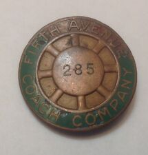 Vintage Fifth Avenue Coach Company New York City Bus Driver Hat Badge 285