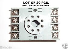 LOT OF 20 IDEC SR2P-06 SOCKET RELAY BASE 8 PIN / 8 TERMINALS 10A 300V *BRAND NEW