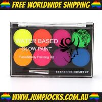 Neon Body Paint - Glow In The Dark, Rainbow, Party *FREE WORLDWIDE SHIPPING*