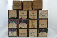 LOT OF 15 ANTIQUE PLAYER PIANO ROLLS Duo-Art & QRS