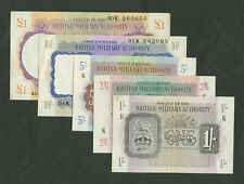 More details for british military authority £1 10s 5s 2/6 1s wwii torch set about ef banknotes